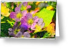 Southern Missouri Wildflowers 1 - Digital Paint 2 Greeting Card