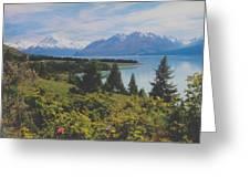 Southern New Zealand Lake Pukaki Greeting Card