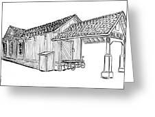 Southern Pacific Depot, Skull Valley, Az Greeting Card