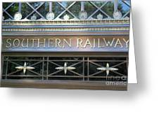 Southern Railway Building Greeting Card