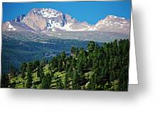 Southern Rockies Summer Mountains Greeting Card