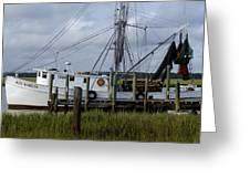 Southern Shrimpboat, Edisto Island, South Carolina  Greeting Card