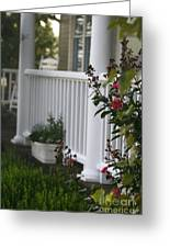Southern Summer Flowers And Porch Greeting Card