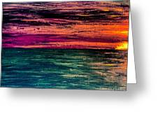 'southern Sunset' Greeting Card
