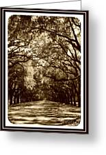 Southern Welcome In Sepia Greeting Card