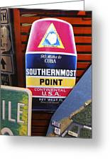 Southernmost Point Greeting Card