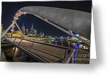 Southgate Bridge At Night Greeting Card