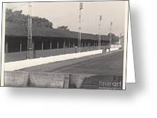 Southport Fc - Haig Avenue - Old Main Stand - Bw - Early 60s Greeting Card