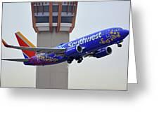 Southwest 737-7l9 N7816b Coco Phoenix Sky Harbor November 30 2017 Greeting Card