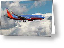 Southwest Airlines Boeing 737-700 Greeting Card