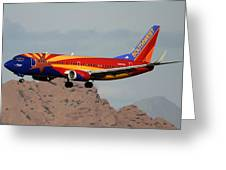 Southwest Boeing 737-3h4 N383sw Arizona Phoenix Sky Harbor December 20 2015  Greeting Card