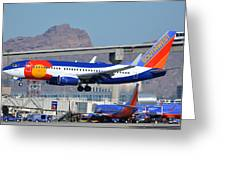 Southwest Boeing 737-7h4 N230wn Colorado One Phoenix Sky Harbor January 24 2016 Greeting Card