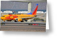 Southwest Boeing 737-7h4 N781wn New Mexico Phoenix Sky Harbor January 17 2016 Greeting Card