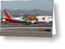 Southwest Boeing 737 California At Phoenix Sky Harbor November 10 2010 Greeting Card