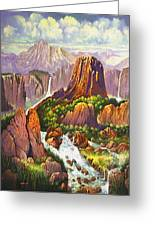 Southwest Mountain Floodwaters Greeting Card