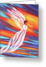 Southwest Sunset Angel Greeting Card