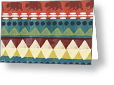 Southwest With Bears- Art By Linda Woods Greeting Card by Linda Woods
