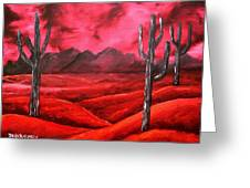 Southwestern Abstract Oil Painting Greeting Card