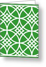 Southwestern Inspired With Border In Dublin Green Greeting Card