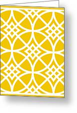 Southwestern Inspired With Border In Mustard Greeting Card