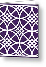 Southwestern Inspired With Border In Purple Greeting Card