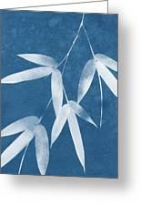 Spa Bamboo 1-art By Linda Woods Greeting Card