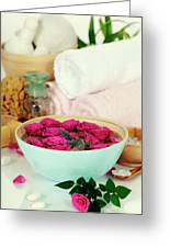 Spa Composition Greeting Card