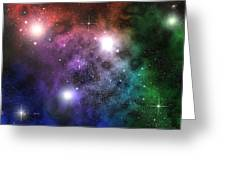 Space Clouds Greeting Card