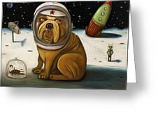Space Crash Greeting Card
