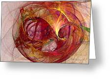 Space Demand Abstract Art Greeting Card
