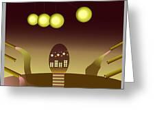 Space Door Greeting Card
