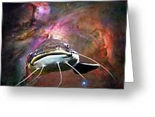 Space Fish Greeting Card