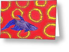 Space Fish Greeting Card by Rishanna Finney