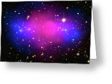 Space Image Galaxy Cluster Purple Blue Black Greeting Card