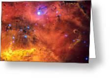 Space Image Red Orange And Yellow Nebula Greeting Card