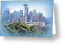 Space Needle 3 Greeting Card