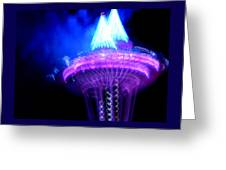 Space Needle Fireworks Greeting Card