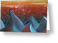 Space Scape Greeting Card