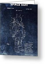 Space Suit Patent Illustration Greeting Card