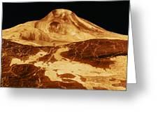 Space: Venus, 1991 Greeting Card
