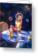 Spacegirl Greeting Card