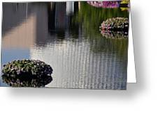 Spaceship Earth Reflection Greeting Card