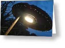 Spaceship Landscape Light Greeting Card
