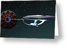 Space...the Final Frontier Greeting Card by Walter Oliver Neal