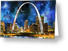 Spacey St. Louis Skyline Greeting Card