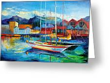 Spain Boats Greeting Card