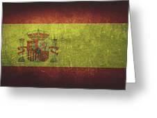 Spain Distressed Flag Dehner Greeting Card