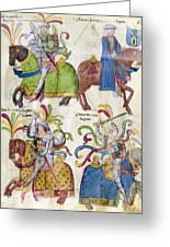 Spain: Knights, C1350 Greeting Card