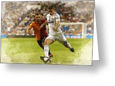 Spain Soccer Bernabeu Trophy Greeting Card