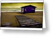 Spanish Beach Hut Greeting Card